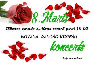 Ilūkstes novada kultūras centrs aicina uz 8. marta koncertu