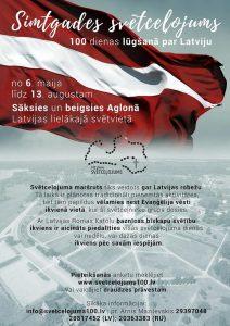 """Piesaki savu dalību Simtgades svētceļojumam """"100 dienas lūgšanā par Latviju"""""""