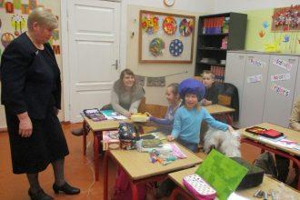 Bebrenes VP vidusskolas 1. un 2. klases skolēniem mācību stunda notika kopā ar vecākiem