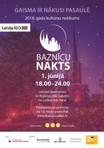 Baznīcu naktī varēs iepazīt vairāk nekā 170 dievnamus visā Latvijā