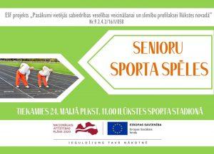Ilūkstes stadionā notiks Senioru sporta spēles