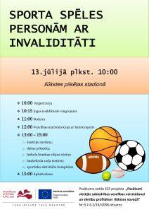 """Novada svētku ietvaros notiks """"Sporta spēles personām ar invaliditāti"""""""