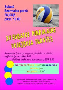 Aicinām piedalīties Subates volejbola turnīrā!