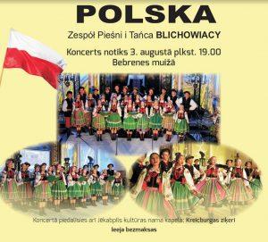 Poļu dziesmas un dejas aicina baudīt koncertā Bebrenes muižā