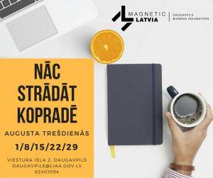 LIAA Daugavpils biznesa inkubators aicina strādāt kopradē!