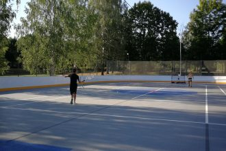 Slidotavas laukums izmantojams sportam arī vasarā!