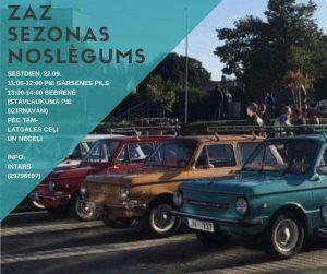 22. septembrī – ZAZ retro auto parāde Bebrenē