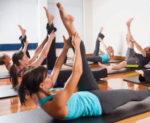Ilūkstes novada Sporta skolas Sporta centrā notiek pilates nodarbības