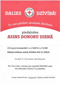 Asins donoru diena Ilūkstē