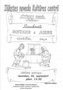 """Baltinavas pagasta teātris """"Palādas"""" aicina uz Danskovītes komēdiju """"Ontans i Anne"""""""