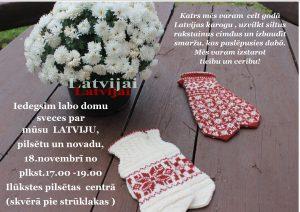 Sveicot Latviju svētkos