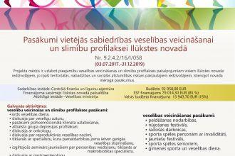 """Projekts """"Pasākumi vietējās sabiedrības veselības veicināšanai un slimību profilaksei Ilūkstes novadā"""""""