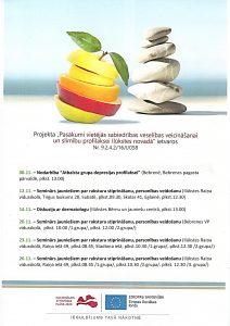 Novembrī notiks dažādi bezmaksas veselības veicināšanas pasākumi