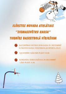Tuvojas Ilūkstes novada Ziemassvētku kausa izcīņa basketbolā