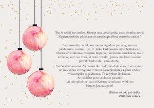 Lai mierpilni un skaisti Kristus dzimšanas svētki un laimīgs Jaunais gads!