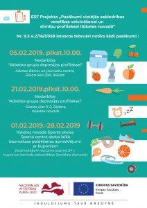 Aicinām februārī apmeklēt bezmaksas veselības veicināšanas pasākumus