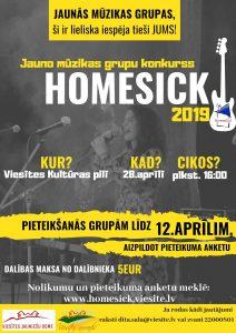 """Jauno mūzikas grupu konkurss """"Homesick"""" atgriežas Viesītē"""