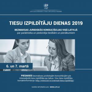 6. un 7. martā iedzīvotājiem būs iespēja saņemt bezmaksas juridiskās konsultācijas par parādnieka un piedzinēja tiesībām un pienākumiem