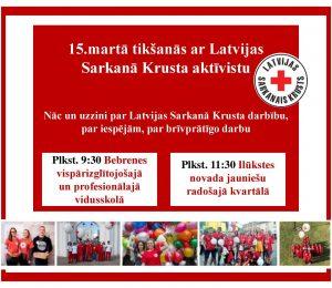 Jaunieši aicināti iepazīties ar Latvijas Sarkanā Krusta darbību un brīvprātīgā darba iespējām