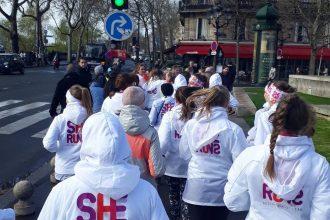 """Linda Juško un Melānija Borovska pārstāvēja Latviju projektā """"She runs"""" Parīzē"""