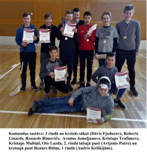 Ilūkstes Raiņa vidusskolas komanda izcili startē Latgales reģiona skolēnu sporta spēles florbolā