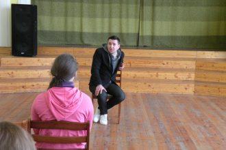 Projekta ietvaros, Ilūkstes novada skolu 7.-12. klašu skolēni tikās ar dažādu profesiju pārstāvjiem
