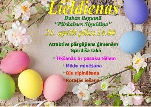 """Svinēsim Lieldienas """"Pilskalnes Siguldiņā""""!"""