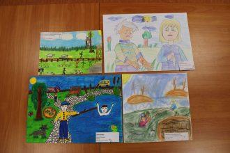 """Sarkanais Krusts rīkoja zīmēšanas konkursu bērniem """"Kā es palīdzētu draugam, kurš ir nonācis nelaimē?"""""""