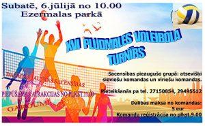 Subatē notiks tradicionālais pludmales volejbola turnīrs