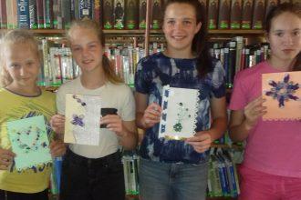 Dvietes pagasta bibliotēkā notiek vasaras radošās darbnīcas
