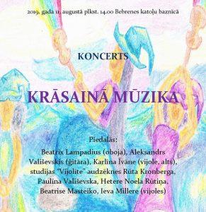 """Bebrenes katoļu baznīcā – koncerts """"Krāsainā mūzika"""""""