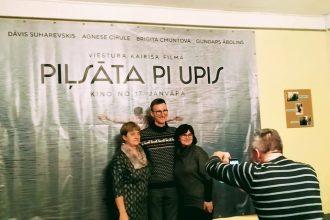 """Subatē ar pirmizrādi viesojās filmas """"Pilsēta pie upes"""" radošā komanda"""