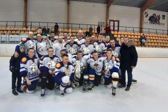 """Hokeja komanda """"Ilūkste"""" piedalījās Jaungada hokeja turnīrā amatieriem Daugavpilī"""