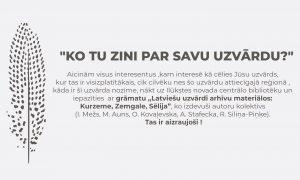 Centrālā bibliotēka aicina iepazīties ar grāmatu par latviešu uzvārdu izcelsmi