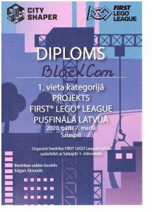 """First lego league """"City Shaper"""" pusfināls Salaspils 1.vidusskolā 2020.gada 7.martā"""