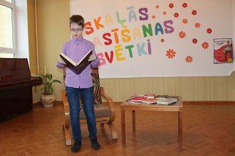 Ilūkstes Raiņa vidusskolā notika Skaļās lasīšanas sacensība