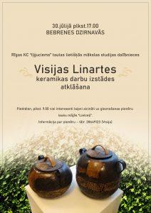 Bebrenē būs apskatāma Visijas Linartes keramikas darbu izstāde