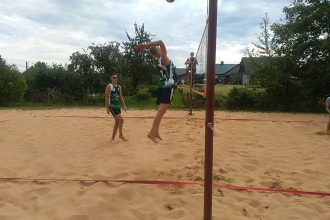 Sacentās pludmales volejbola cienītāji