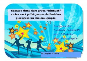 "Subates deju grupa ""RitmusS"" gaida jaunus dalībniekus"