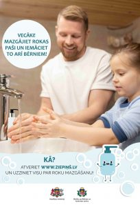 Mazgājiet rokas paši un iemāciet to arī bērniem!