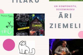 Centrālā bibliotēka aicina uz tikšanos ar rakstnieku Dzintaru Tilaku un dziesminieku Āri Ziemeli