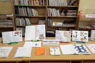 """Ilūkstes pilsētas Bērnu bibliotēkā apskatāma bērnudārza audzēkņu """"Burtu grāmatiņu"""" izstāde"""