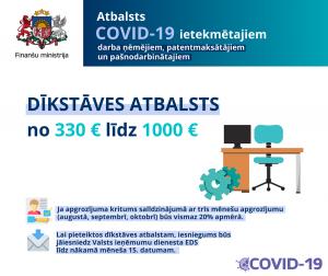 Finanšu ministrija informē par atbalsta pasākumiem Covid-19 dēļ noteikto drošības pasākumu laikā