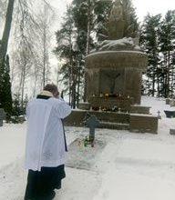 Pieminot kritušos Lietuvas karavīrus un atzīmējot  Lietuvas neatkarības 103. gadadienu