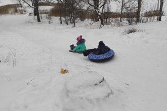 """Nedēļas nogales saliņš, nelielā sniega kārta un Subates ģimeņu """" Ziemas prieku fotoizstāde"""""""