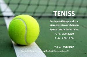 Nāciet uzspēlēt āra tenisu!