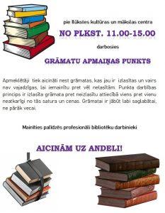 Novada Centrālā bibliotēka rīko grāmatu andeli