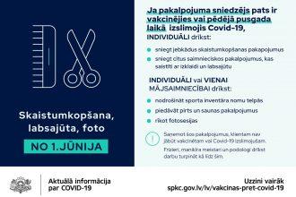Vakcinētiem cilvēkiem jūnijā būs plašākas iespējas pulcēties