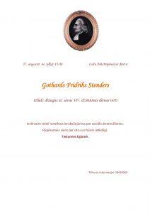 Eglainē atzīmēs Gotharda Fridriha Stendera dzimšanas dienu