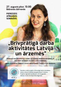 Bebrenē notiks seminārs par brīvprātīgā darba aktivitātēm